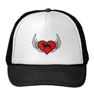 Gelockter überzogener Retriever Winged Retrokult Cap