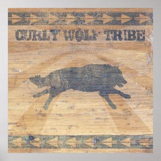 Gelockter Wolf-Stamm Poster