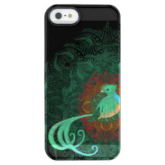 Gelocktes Quetzal Durchsichtige iPhone SE/5/5s Hülle