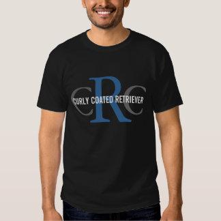 Gelocktes überzogenes Retriever-Zucht-Monogramm Shirts