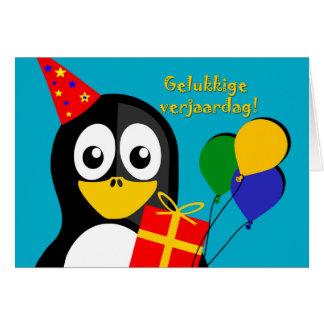 Gelukkige verjaardag! Geburtstag im Afrikaans Karte