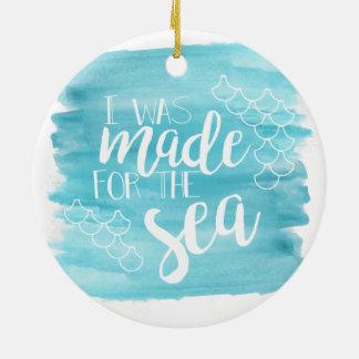Gemacht für die SeeAquarell-Verzierung Rundes Keramik Ornament