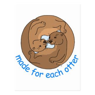 Gemacht für jeden Otter Postkarte