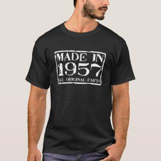Gemacht im Jahre 1957 alle Vorlagenteile T-Shirt