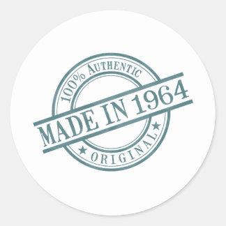 Gemacht im Jahre 1964 ringsum Briefmarken-Art-Logo Runder Aufkleber