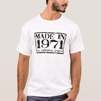 Gemacht im Jahre 1971 alle Vorlagen-Teile T-Shirt
