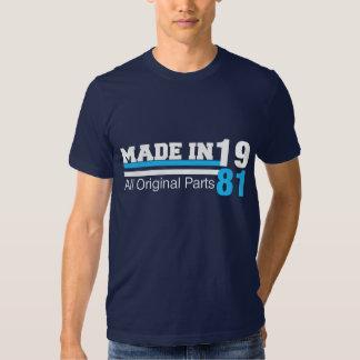 GEMACHT im Jahre 1981 alles URSPRÜNGLICHE Tshirts