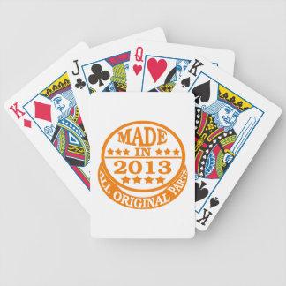 Gemacht im Jahre 2013 alle Vorlagenteile Bicycle Spielkarten