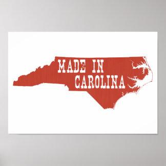 Gemacht im North Carolina Poster
