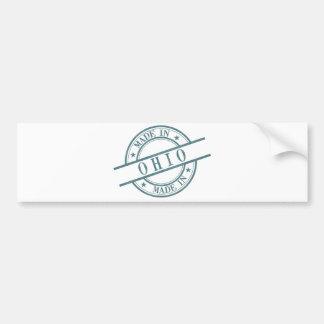 Gemacht im Ohio-Briefmarken-Art-Logo-Symbol-Grün Autoaufkleber