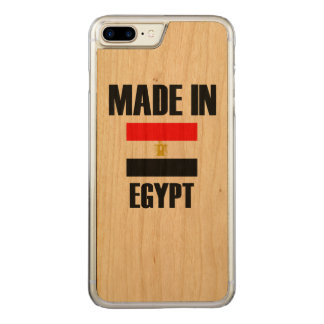 Gemacht in Ägypten-Flagge Carved iPhone 8 Plus/7 Plus Hülle