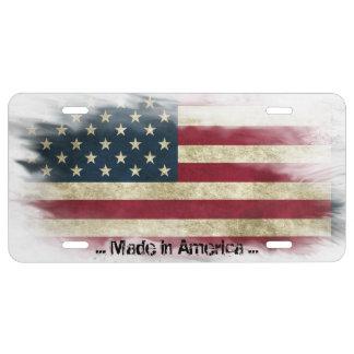 Gemacht in Amerika, beunruhigte USA-Flagge US Nummernschild