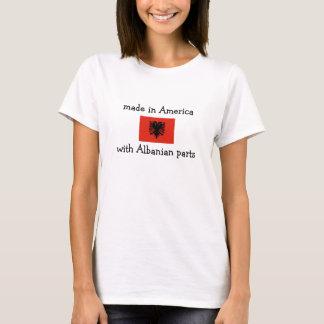 gemacht in Amerika mit albanischen Teilen T-Shirt