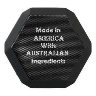 Gemacht in Amerika mit australischen Bestandteilen Schwarze Bluetooth Lautsprecher
