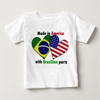 gemacht in Amerika mit brazilin Teilen Baby T-shirt