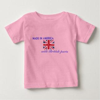 Gemacht in Amerika mit britischen Teilen Baby T-shirt