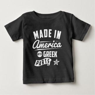 Gemacht in Amerika mit griechischen Teilen Baby T-shirt