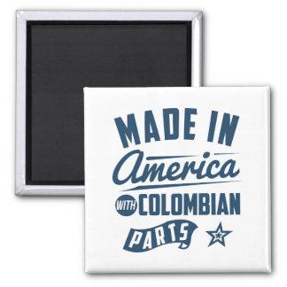 Gemacht in Amerika mit kolumbianischen Teilen Quadratischer Magnet