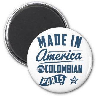 Gemacht in Amerika mit kolumbianischen Teilen Runder Magnet 5,1 Cm