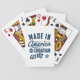 Gemacht in Amerika mit kroatischen Teilen Spielkarten