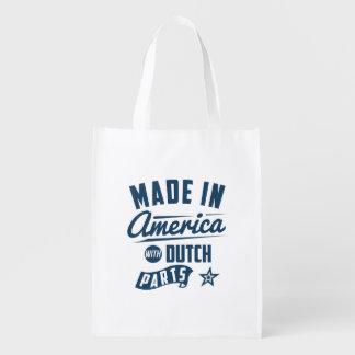 Gemacht in Amerika mit niederländischen Teilen Wiederverwendbare Einkaufstasche