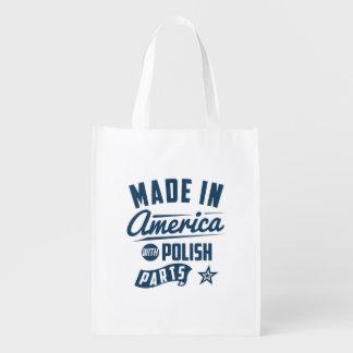 Gemacht in Amerika mit polnischen Teilen Wiederverwendbare Einkaufstasche