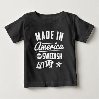 Gemacht in Amerika mit schwedischen Teilen Baby T-shirt