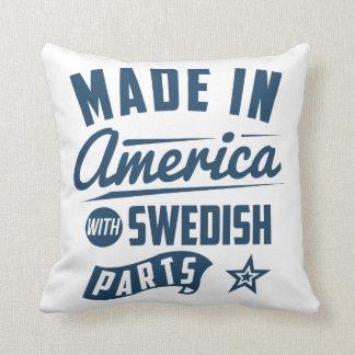 Gemacht in Amerika mit schwedischen Teilen Kissen