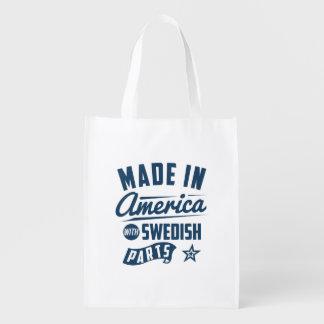 Gemacht in Amerika mit schwedischen Teilen Wiederverwendbare Einkaufstasche