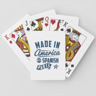 Gemacht in Amerika mit spanischen Teilen Spielkarten