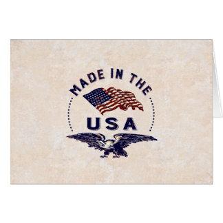 Gemacht in Amerika Vintage USA Grußkarte