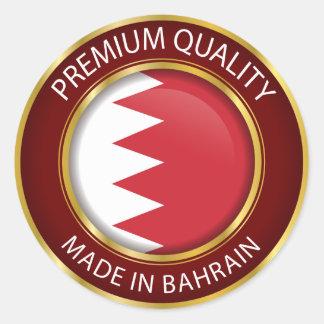 Gemacht in Bahrain-Flagge, färbt Bahraini Siegel Runder Aufkleber