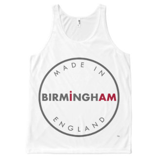Gemacht in Birmingham-Weste Komplett Bedrucktes Tanktop