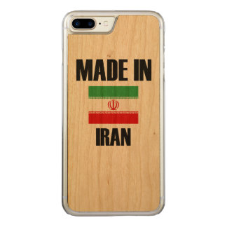Gemacht in der Iran-Flagge Carved iPhone 8 Plus/7 Plus Hülle