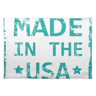 Gemacht in der USA-Briefmarke Tischsets