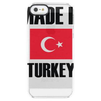 Gemacht in die Türkei-Flagge Durchsichtige iPhone SE/5/5s Hülle