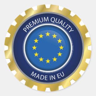 Gemacht in Europa-Siegel, europäische Runder Aufkleber