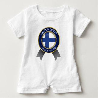 Gemacht in Finnland, finnische Flagge Baby Strampler