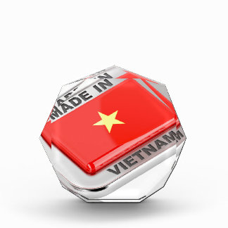 Gemacht in glänzendem Abzeichen Vietnams Auszeichnung