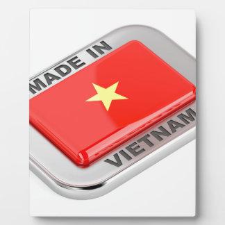 Gemacht in glänzendem Abzeichen Vietnams Fotoplatte