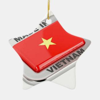 Gemacht in glänzendem Abzeichen Vietnams Keramik Ornament