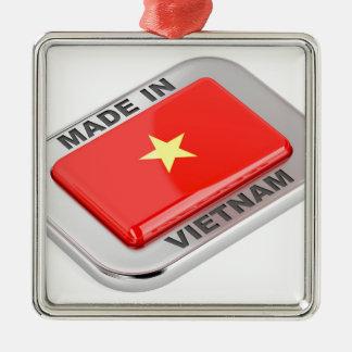 Gemacht in glänzendem Abzeichen Vietnams Silbernes Ornament