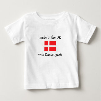 gemacht in Großbritannien mit dänischen Teilen Baby T-shirt