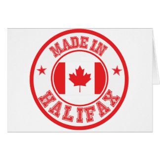Gemacht in Halifax Karte