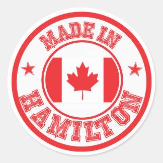 Gemacht in Hamilton Runder Aufkleber