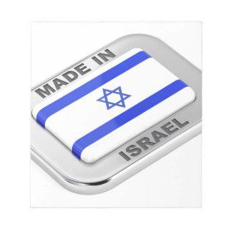 Gemacht in Israel Notizblock