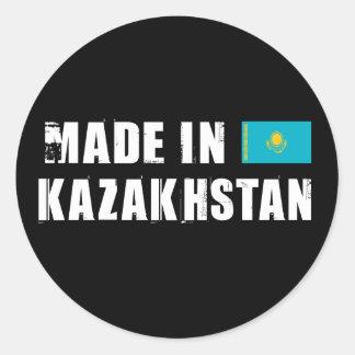 Gemacht in Kasachstan Runde Aufkleber