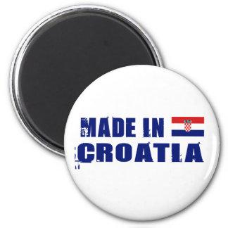 Gemacht in Kroatien Runder Magnet 5,1 Cm