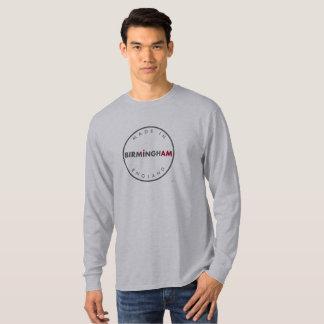 Gemacht in langer Hülse Birminghams T-Shirt