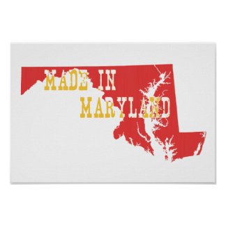 Gemacht in Maryland Poster
